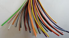 5m CHOICE OF 70 COLOURS copper cable wire 12v thinwall 1mm 16.5A