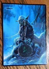 Magic the Gathering Basic Land Mtg Altered Art Star Wars Yoda Forest