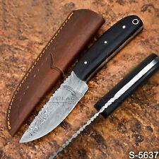 5637 |Custom Forged Handmade Damascus Steel Skinner Bush Craft knife | W/Sheath