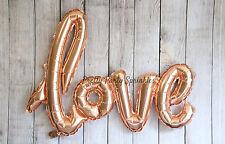 Love Balloon Wedding Decorations, Mylar Bridal Shower, Wall Decor Banner Gold