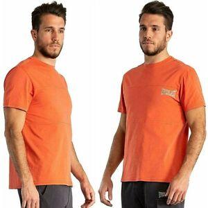 T-shirt da uomo EVERLAST sport maglia con taglio orizzontale maglietta arancione