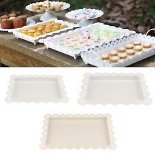 Household Serving White Metal Tray Fruit Tea Food Plate Wedding Venue Decor