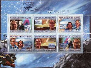 Guinea Space Stamps 2007 MNH Hale-Bopp Comet Comets Alan Hale Thomas Bopp 6v M/S