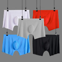 men underwear Boxer shorts Ice silk Seamless soft sexy male men's underpants
