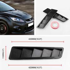 "2 Stück 16.7X4.5 ""Auto Hood Vents Jalousie Panel Kohlefaser Muster ABS Universal"