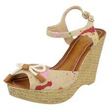 Sandalias y chanclas de mujer textil de color principal beige