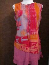 Robe CACHE CACHE T42 - Robe droite rose rouge tout coton (1707031)
