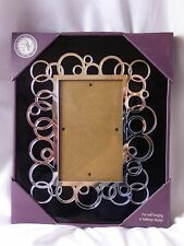 New View NVGA Silver Circular Mirrored Mat 6x4 Photo Frame Glass 10x8 Hang Table