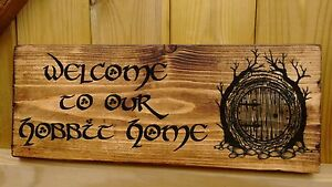 Personalised Hobbit House Name  Signs Plaque Porch Conservatory Lord of the Ring