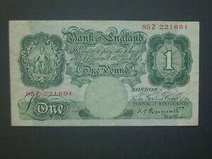 **LooK ''95Z'' Crisp 1934 £1 Peppiatt  Banknote ***