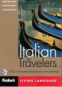 Fodor's Living Language Series - Italian for Travelers - Phrasebook w/ 2 CDs