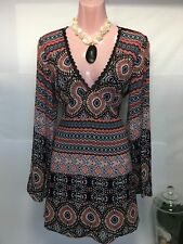 ASOS Petite ultimate mini tea dress Aztec geometric print Size UK 12 US 8 EU 40