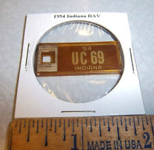 1954 Indiana #UC 69 DAV Mini License Plate keychain Disabled American Vet