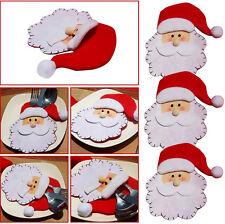 Christmas Snowman Cutlery Fork Bag Holder XMAS Dinner Tableware Table Decor UK