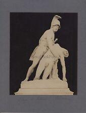 Sculpture gréco-romaine Ajax centaure Grèce Italie 2 Photos Vintage albumine