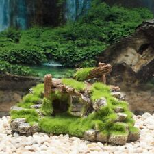Aquarium Mountain Moss Rock Stones Hiding Cave Ornament Fish Tank Decoration NEW