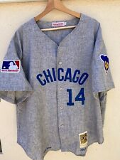 Mitchell N Ness 100 Year Anniversary Banks Chicago Cubs Wool Gray Jersey 52 Sign