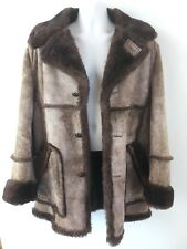 Vintage Cooper Shearling Leather Sheepskin Coat Mens Size 40 Made in USA! VGC