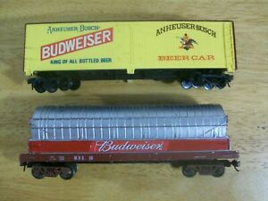 HO Scale (Lot) Anheuser Busch Budweiser Beer Reefer & Tank Car - Tyco / AHM
