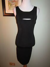 Guess by Marciano Black Sleeveless Stretch Bandage Bodycon Dress Size S