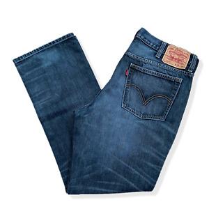 Vintage LEVIS L569 Jeans | W38 L32 | Blue Denim Straight Fit Zip Fly Retro
