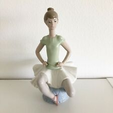 "Lladro 1360 Laura Sitting Resting Ballerina Porcelain Figurine 9"" Tall"