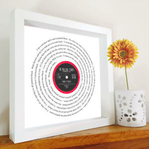 The Rolling Stones - Paint it Black Framed Song Lyrics - Any song - Personalised