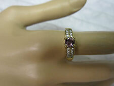 GORGEOUS ESTATE 14 KT GOLD  PURPLE SAPPHIRE RING !!!!!!!!!