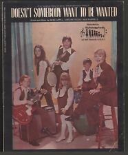 Doesn't Somebody Want To Be Wanted 1971 The Partridge Family Sheet Music