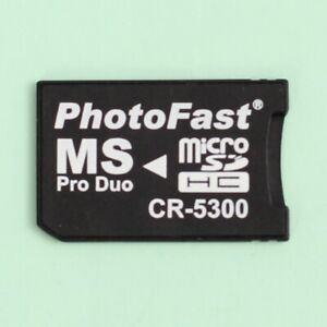 PhotoFast CR-5300 Micro SD SDHC to Memory Stick Pro Duo Memory Card Adapter