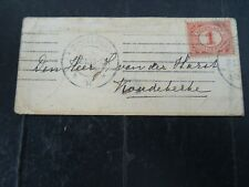 Nederland 51 op briefje Middelburg - Koudekerke 1913