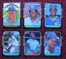 1987 Donruss Kansas City Royals Baseball Team Set (23 Cards) ~ Bo Jackson BRETT