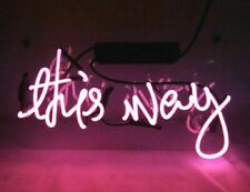 "[Ship From Usa] ""This Way"" Pink Sexy Shop Neon Sign Beer Bar Light Wall Decor"