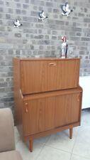Schreiber Mid Century 1960's Teak Bureau Drinks Cocktail Cabinet MCM Dansette