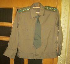 New Russian Soviet KGB Border Guards Officer Uniform Shirt + Tie Sz 52-3 M USSR