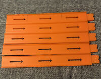 """Hot Wheels Straight Orange Track, Lot Of 10 Pieces, All 12"""" Long"""