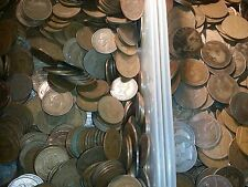 300 coins english  Pennies halfpennies farthings very old mixt lot 300 coin lot