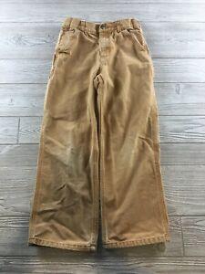 Boys Canvas Brown Carhartt  Carpenter Pants Size 10