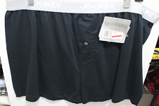Jockey Mens Cotton Blend Stretch Boxer Shorts 003633 Black Xlarge