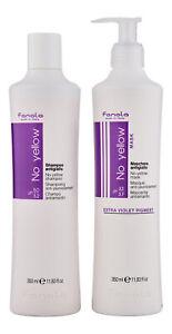 Fanola No Yellow Shampoo & No Yellow Mask 350 ml. Hair Care Set