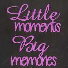 Scrapbooking Words - Little moments Big memories - grape