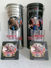 Iron Maiden Trooper Ale Collector Tins, Glasses and Beer Mats  (no bottles)