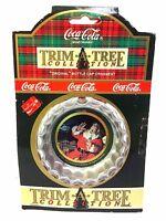 "VINTAGE 1991 COCA COLA ""ORIGINAL"" SANTA BOTTLE CAP CHRISTMAS ORNAMENT"