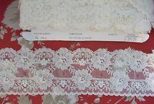 35m British Made Nottingham Cotton Cluny Lace Vintage style - Ivory FC194,Bridal