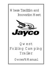 Jayco Fold-Down Pop-Up Tent Trailer Owners Manual- 2001 Qwest
