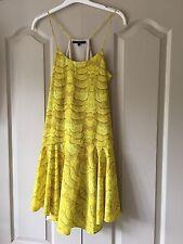 Tibi New York-Net un Vestido cintura caída Porter Citrus Amarillo EE. UU. 8 Reino Unido 12 £ 450