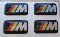 4 BMW German M Tec Badge Alloy Wheel stickers Sport performance Emblem 17 18 19