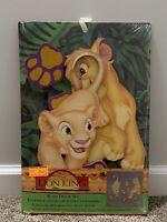 Vtg The Lion King Simba Nala Disney Movie Picture Wall Art Nursery Decor NWT