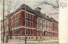 High School in Wilmington DE Postcard 1913