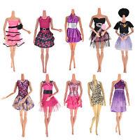 10Pc Baby-Spielzeug-Partei Brautkleider kleidet Kleid für Puppen Nue!'